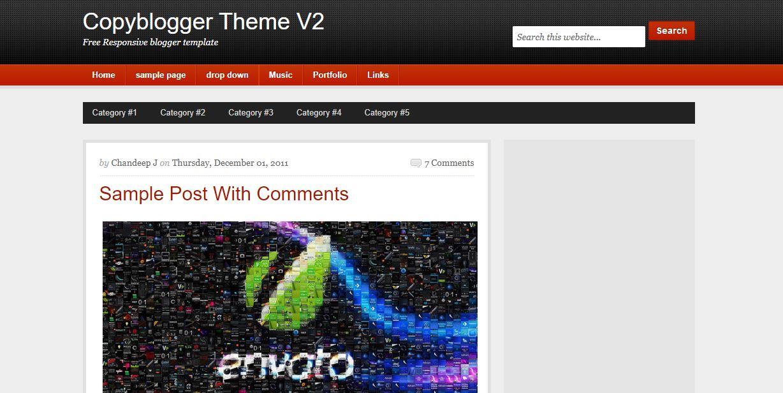 CopyBlogger V2 - Best premium looking blogger templates