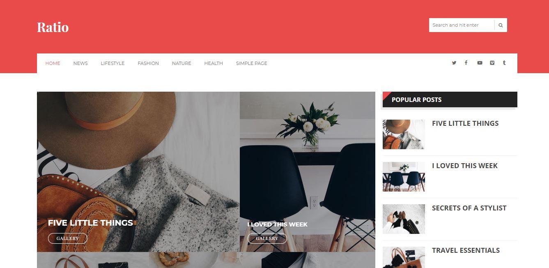 Ratio Template - Best premium looking blogger templates