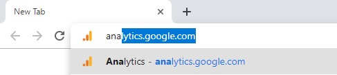 Type analytics.google.com in chrome