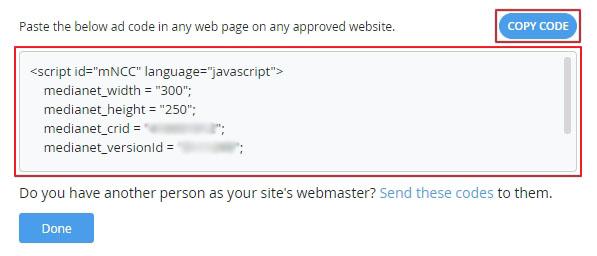Media.net Ads Code.